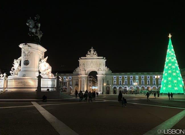 Christmas tree on Praça do Comércio, Lisbon