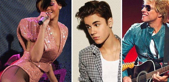 Lisbon Concerts - Rihanna, Justin Bieber, Bon Jovi