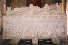Tomb inside Alcobaca Abbey