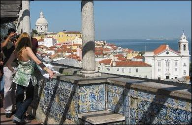 Looking out over Lisbon's Alfama district