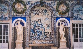 Tiled walls in Lisbon's Fronteira Palace