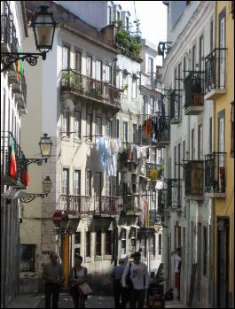 Typical street in Bairro Alto