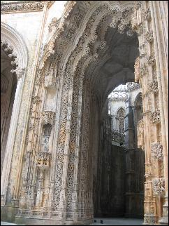 The Unfinished Chapels portal of Batalha Abbey