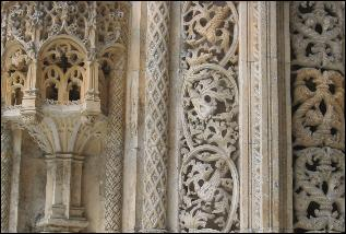 The ornate stonework of Batalha Abbey