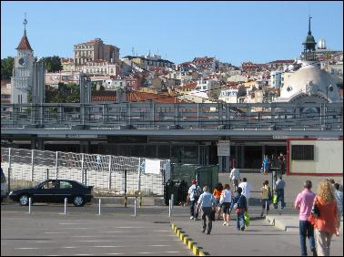Cais do Sodre train, metro, and ferry station
