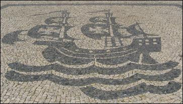 A typically-Portuguese cobblestone pavement