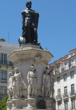 Monument to Camoes in Lisbon
