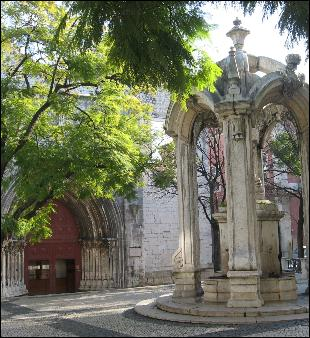 Carmo Church portal/entrance