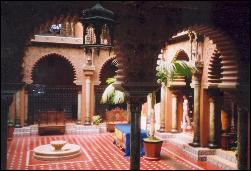 Moorish courtyard in Casa do Alentejo