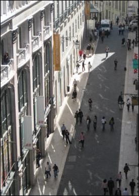Shopping street in Chiado