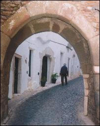 Typical  Estremoz street