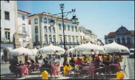 A cafe in  Evora