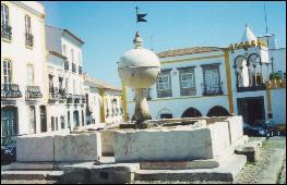 Evora's Porta da Moura Square