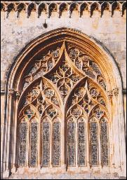 Gothic window in Batalha Abbey