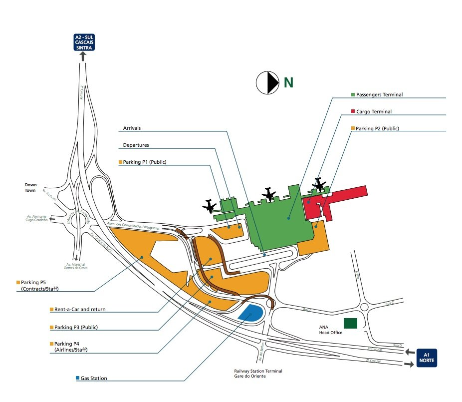 Map Of Lisbon Airport