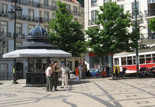 Kiosk cafe, Lisbon