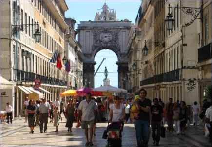 Rua Augusta, downtown Lisbon