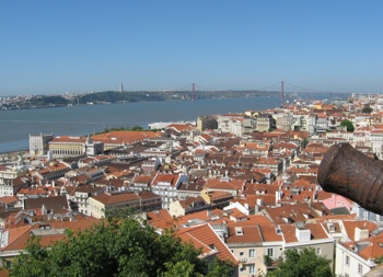View over Lisbon from Saint George's Castle