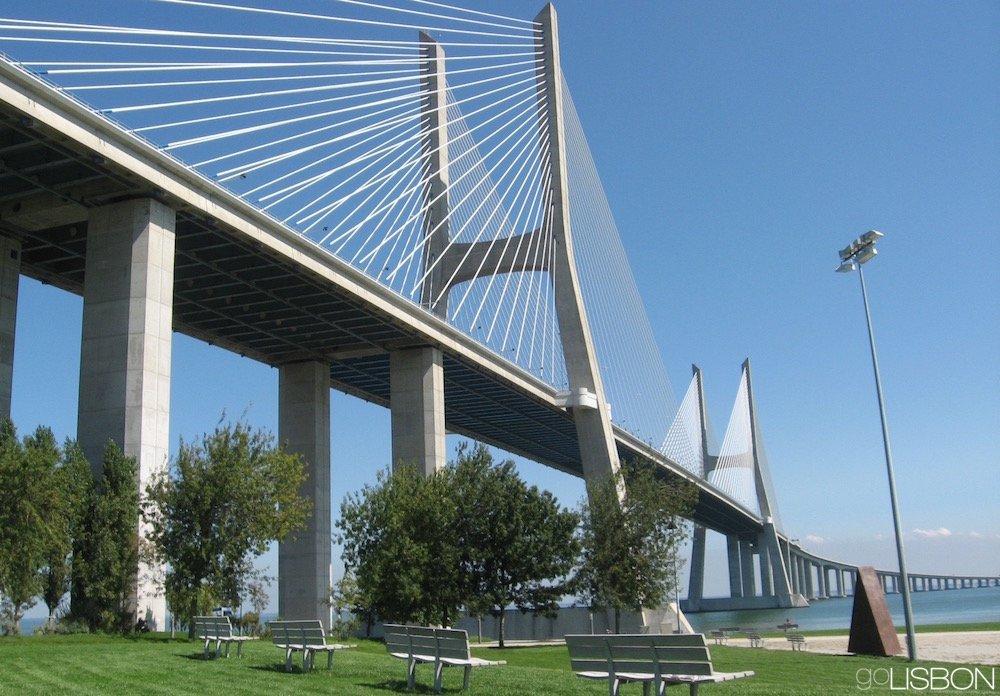 Vasco Da Gama Bridge Ponte Vasco Da Gama Parque Das