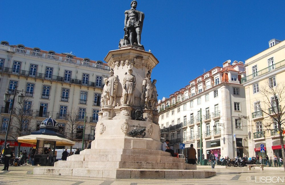The Most Expensive Car In The World >> CAMÕES SQUARE in Chiado, Lisbon