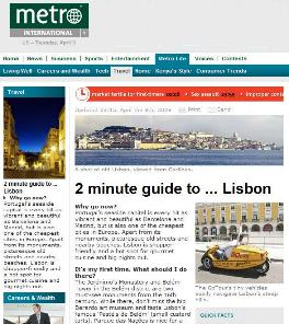 Metro newspaper - Lisbon Guide