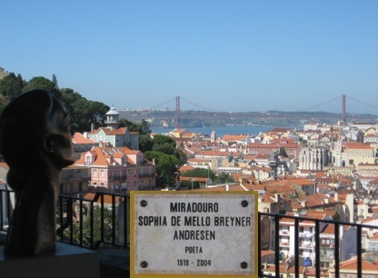 Miradouro da Graça, Sophia de Mello Breyner Andresen, Lisboa