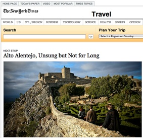 Portugal's Alentejo on the New York Times