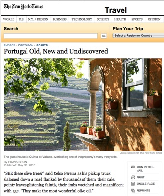 Portugal in the New York Times travel section