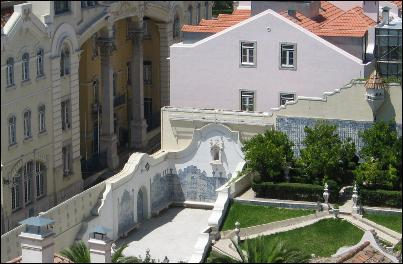 Partial view of the garden of Palacio São Vicente, Lisbon