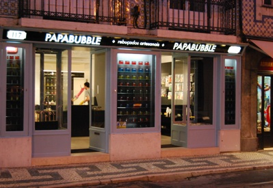 Papabubble shop, Lisbon