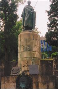 Statue of Portugal's first king in Guimarães