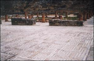 Roman mosaic in Conimbriga