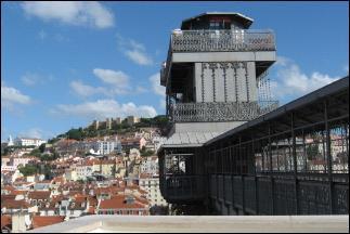 Santa Justa Elevator's top platform