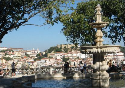 São Pedro de Alcântara viewpoint overlooking Lisbon