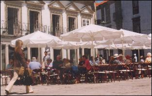 Street cafe in Viana do Castelo