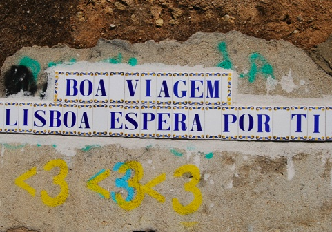 Tile message, Lisbon