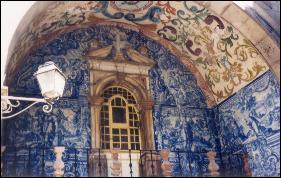 Tile mural in Obidos