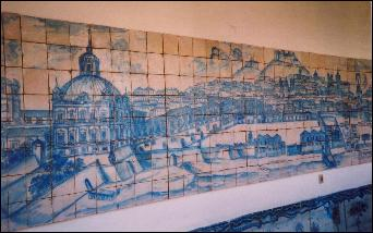 18th century Lisbon on tiles in the Tile Museum