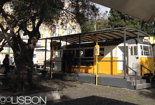 Tram cafe, Lisbon
