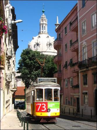 Tram 25 in Lisbon