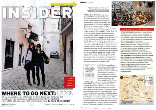 Travel and Leisure magazine, Lisbon