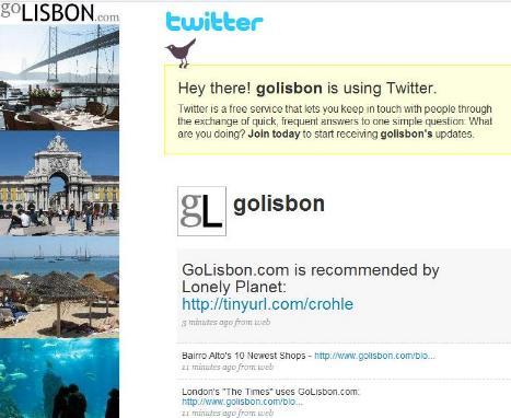 Go Lisbon on Twitter