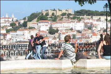 Overlooking Lisbon and its castle